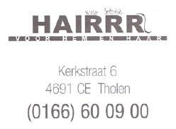 Kapper Tholen - Kapsalon Kapsalon Hairrr